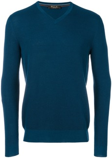 Loro Piana v-neck jumper - Blue