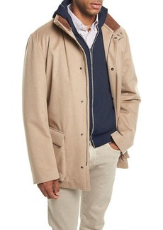 Loro Piana Winter Voyager Cashmere Storm System Coat