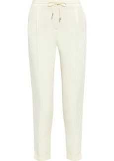 Loro Piana Woman Danny Cropped Silk-blend Cady Tapered Pants Ivory