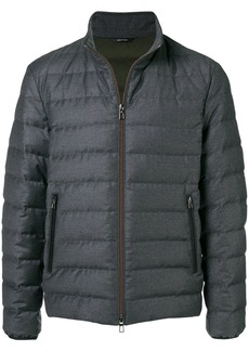 Loro Piana zip padded jacket - Grey