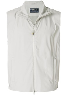 Loro Piana zipped vest - Grey