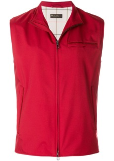 Loro Piana zipped vest - Red