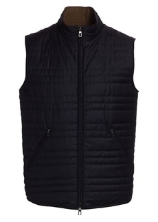 Loro Piana Marlin Wool & Silk-Blend Puffer Vest