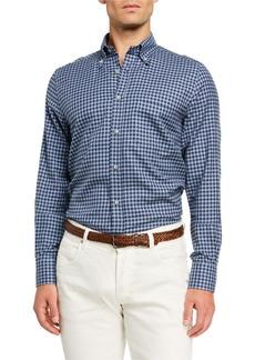 Loro Piana Men's Alfred Check Poplin Sport Shirt