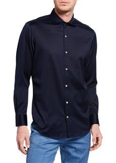 Loro Piana Men's Andrew Jersey Oxford Shirt