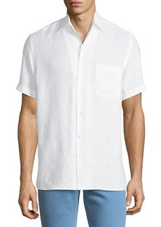 Loro Piana Men's Arizona Linen Short-Sleeve Sport Shirt
