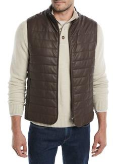 Loro Piana Men's Calfskin City Master Vest