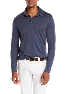 Loro Piana Men's Cose Long-Sleeve Jersey Polo Shirt