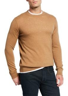 Loro Piana Men's Crewneck Cashmere/Silk Sweater