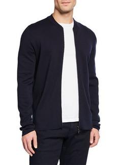 Loro Piana Men's Empire Wish Zip-Front Wool Sweater