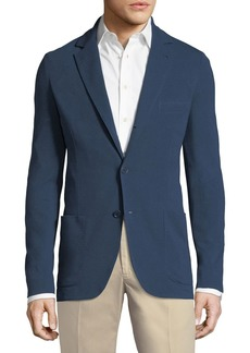Loro Piana Men's Jersey Pique Three-Button Sweater Jacket