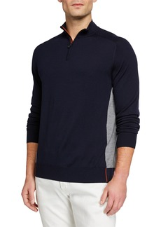 Loro Piana Men's Matches Athletic-Inspired Sweater