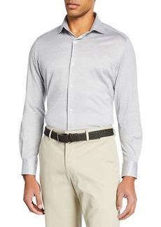 Loro Piana Men's Oxford Stripe Sport Shirt