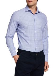 Loro Piana Men's Plaid Cotton Sport Shirt