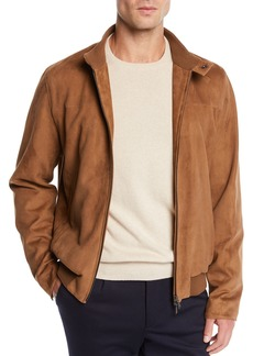 Loro Piana Men's Skytree Suede Biker Jacket