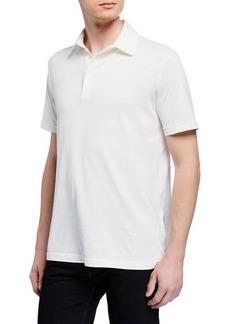 Loro Piana Men's Stone-Dyed Jersey Polo Shirt