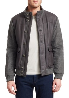 Loro Piana Mixed Media Shearling-Lined Bomber Jacket