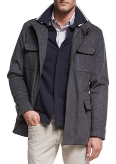 Loro Piana New Traveler Cashmere Stretch Storm System® Jacket