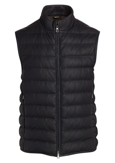 Loro Piana Odeon Leather Puffer Vest
