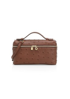 Loro Piana Ostrich Leather Shoulder Bag