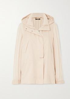 Loro Piana Paddington Ribbed Cashmere And Shell Hooded Jacket