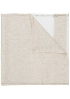 Loro Piana panelled frayed hem scarf