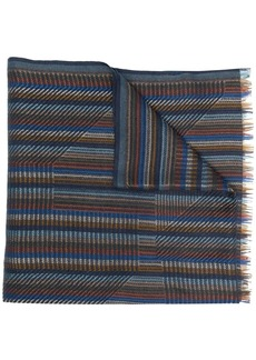 Loro Piana panelled striped cashmere scarf