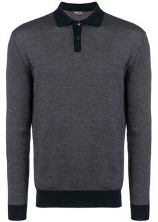 Loro Piana patterned long-sleeve polo shirt