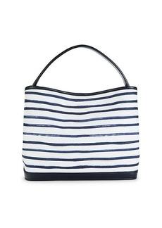 Loro Piana Poker Striped Top Handle Bag