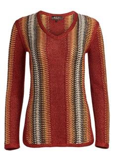 Loro Piana Rajada Linen & Silk Knit Sweater