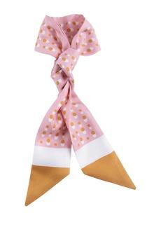 Loro Piana Reflets Dans L'Eau Print Silk Hair Tie