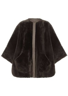 Loro Piana Lorrie reversible shearling cape