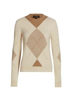 Loro Piana Rivington Argyle Baby Cashmere Sweater