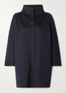 Loro Piana Roaden Leather-trimmed Cashmere Coat