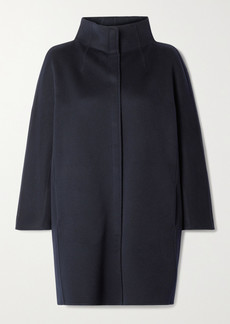 Loro Piana Roaden Leather-trimmed Cashmere Coat