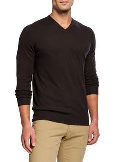 Loro Piana Scollo V-Neck Superlight Baby Cashmere Sweater