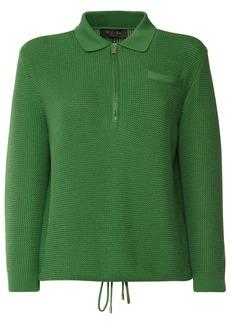 Loro Piana Silk & Cotton Knit Sweater W/ Zip