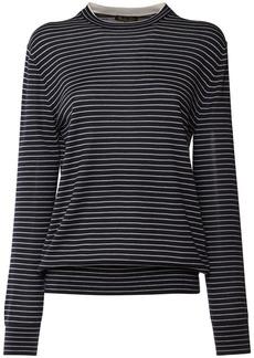 Loro Piana Striped Silk & Cashmere Knit Sweater