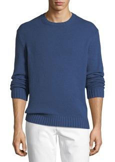 Loro Piana Textured-Knit Crewneck Sweater