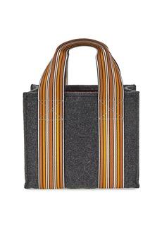 Loro Piana The Suitcase Stripe Cashmere Tote