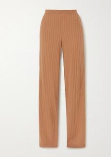 Loro Piana Times Square Ribbed Cashmere Straight-leg Pants