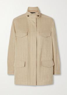 Loro Piana Traveller Herringbone Linen Jacket