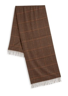 Loro Piana Wales Check Silk & Cashmere Scarf