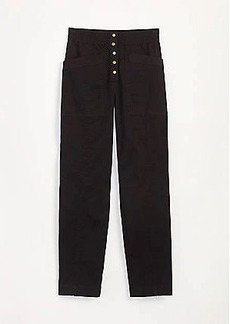 Lou & Grey Brushed Twill Snap High Waist Pants