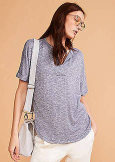 Lou & Grey Brushmarl Split Neck Top