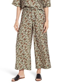Lou & Grey Camo Print Wide Leg Pants