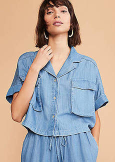 Lou & Grey Cropped Chambray Shirt