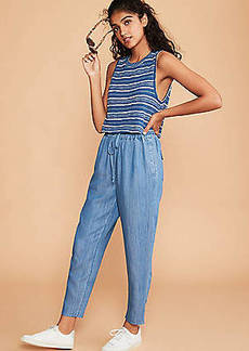 Lou & Grey Chambray Drawstring Pants