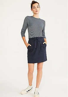 LOFT Lou & Grey Checked Ponte Drawstring Skirt