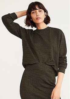 Lou & Grey Checked Ponte Sweatshirt